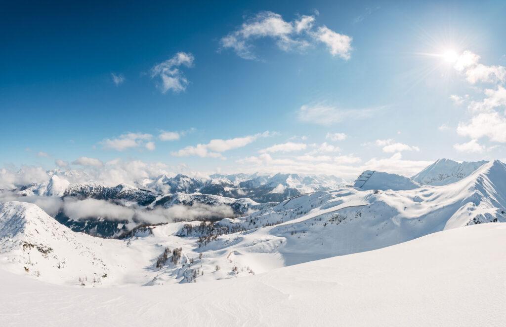 Das Skigebiet Zauchensee im Winter