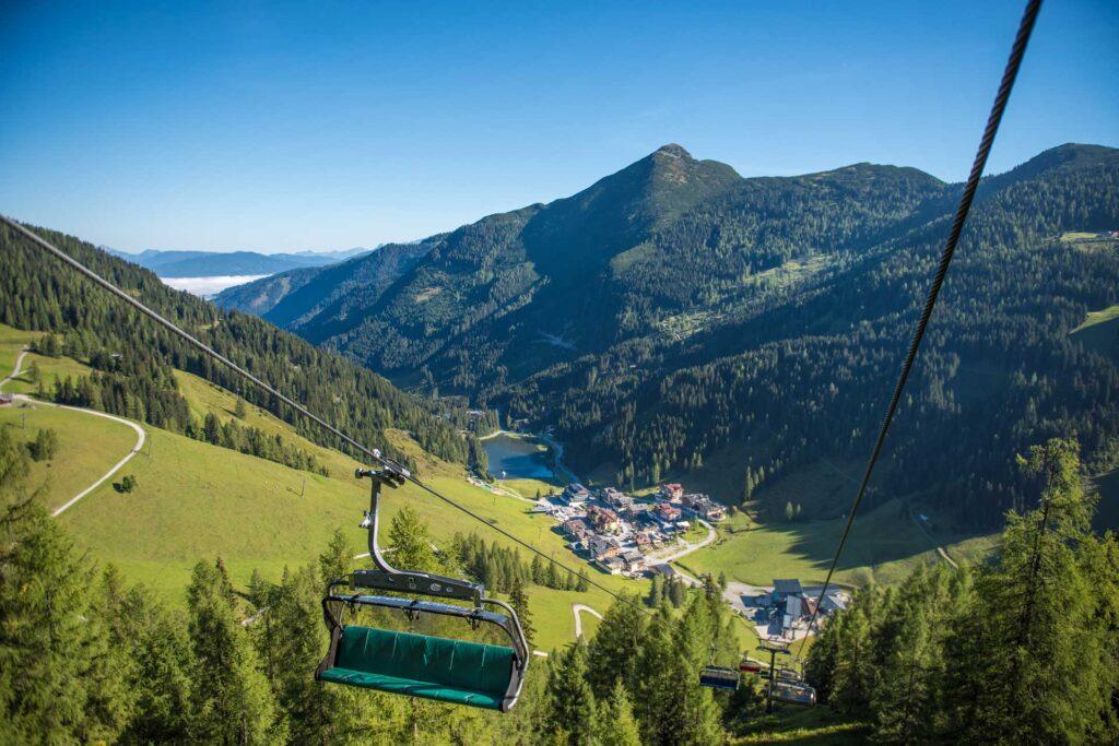 Sessellift von Zauchensee im Sommer